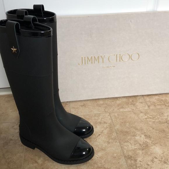 ca63c23a46 Jimmy Choo Shoes | Edith Kneehigh Rain Boot | Poshmark